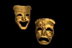 Theater Masks - stock footage