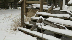 SnowSteps1 - stock footage