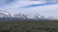 View of Tetons while Driving Stock Footage