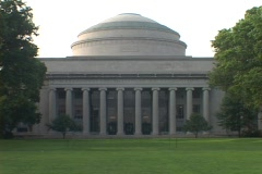 A dome covers a building at the Massachusetts Institute of technology. Stock Footage