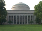 Stock Video Footage of A dome covers a building at the Massachusetts Institute of technology.