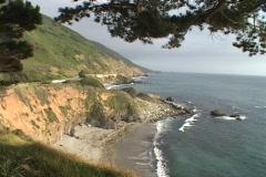 Waves pound the California coastline near Big Sur. Stock Footage