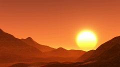 Beautiful Sunset Timelapse Stock Footage