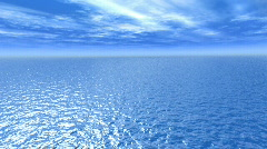 flight above ocean - stock footage
