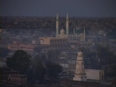 A mosque stands in skyline of Rajasthan, India. Stock Footage