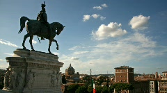 Horse Statue in Rome Stock Footage