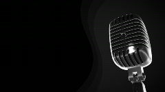 Loopable microphone background animation  Stock Footage