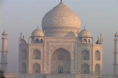 The Taj Mahal stands in Agra, India. Stock Footage