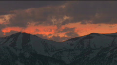 Wyoming Sunset Time Lapse Stock Footage