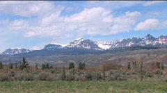 Wyoming Mountains Stock Footage
