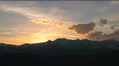 Jackson Hole Sunset Zoom In Stock Footage