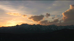 Jackson Hole Sunset Pan Stock Footage