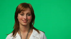 Female Doctor in a hospital 2 Stock Footage