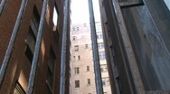 NYC alley snow Stock Footage