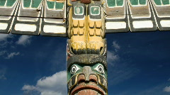 Stock Video Footage of Alaskan Totem Pole Time Lapse