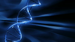 Blue FX Background with rotating DNA string,seamless loop Stock Footage