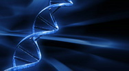 Stock Video Footage of Blue FX Background with rotating DNA string,seamless loop