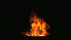 Camp Fire 1 - stock footage