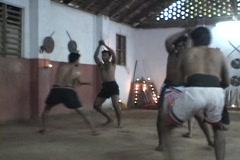 Men train at a martial arts school. Stock Footage