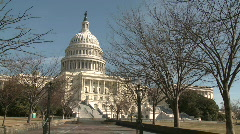 United States Capitol Building on Recess - stock footage
