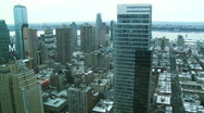 Stock Video Footage of NYC Skyline, Pan