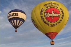 Hot air balloons take off at the Albuquerque Balloon Festival. Stock Footage