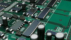 Moving though a circuit board - stock footage