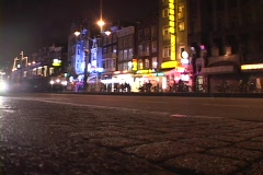 A trolley drives through Amsterdam. - stock footage