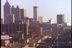 Skyscrapers rise above downtown Atlanta. Stock Footage