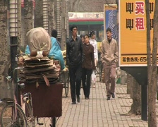 Chinese people in beijing china. - stock footage