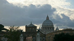 Saint Peter Basilica, Rome - stock footage