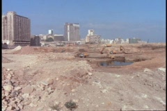 Beirut shows signs of bombings after the civil war. Stock Footage