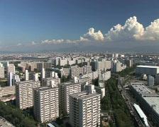 Osaka skyline, panoramic view, cityscape. Stock Footage