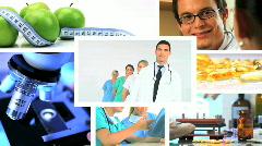 Medical montage Stock Footage