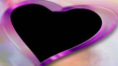 Wedding overlay with alpha pink heart hd ntsc Stock Footage