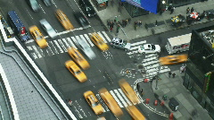 NYC Times Square Intersection Time-lapse Stock Footage