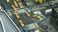 Stock Video Footage of NYC Times Square Intersection Time-lapse