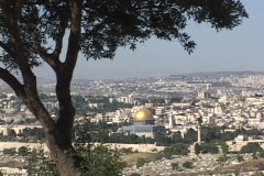 Jerusalem, with the prominent Dome of the Rock Stock Footage