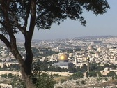 Stock Video Footage of Jerusalem, with the prominent Dome of the Rock