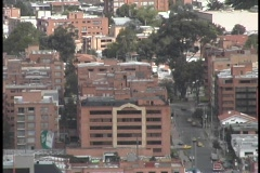 The immense city of Bogota, Colombia stretches to the horizon. Stock Footage
