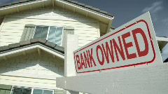 Real Estate Bank Owned Sign Stock Footage