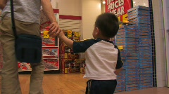SHOPPING WITH CHILD - stock footage