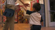 Stock Video Footage of SHOPPING WITH CHILD