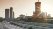 Tel Aviv highway time lapse Stock Footage
