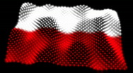 Stock Video Footage of Glowing Flag  - Poland 05 (HD)