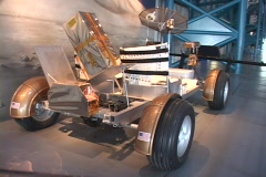 A scientific invention sits on display at the Kennedy Space Center. Stock Footage