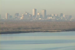 Levees surround and protect the city of New Orleans. Stock Footage
