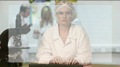Conducting Scientific Research 4 Stock Footage