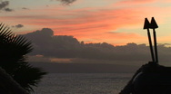 Stock Video Footage of Maui Tropical Painted Sky