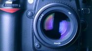 Shooting camera with sound Stock Footage